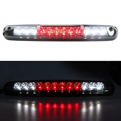 Rear Roof Center LED Third 3rd Brake Cargo Light Replacement for 2007-2013 Chevy Silverado|GMC Sierra 1500, 2007-2014 Chevy Silverado|GMC Sierra 2500 HD 3500 HD (Chrome Housing/Smoke Lens): Automotive