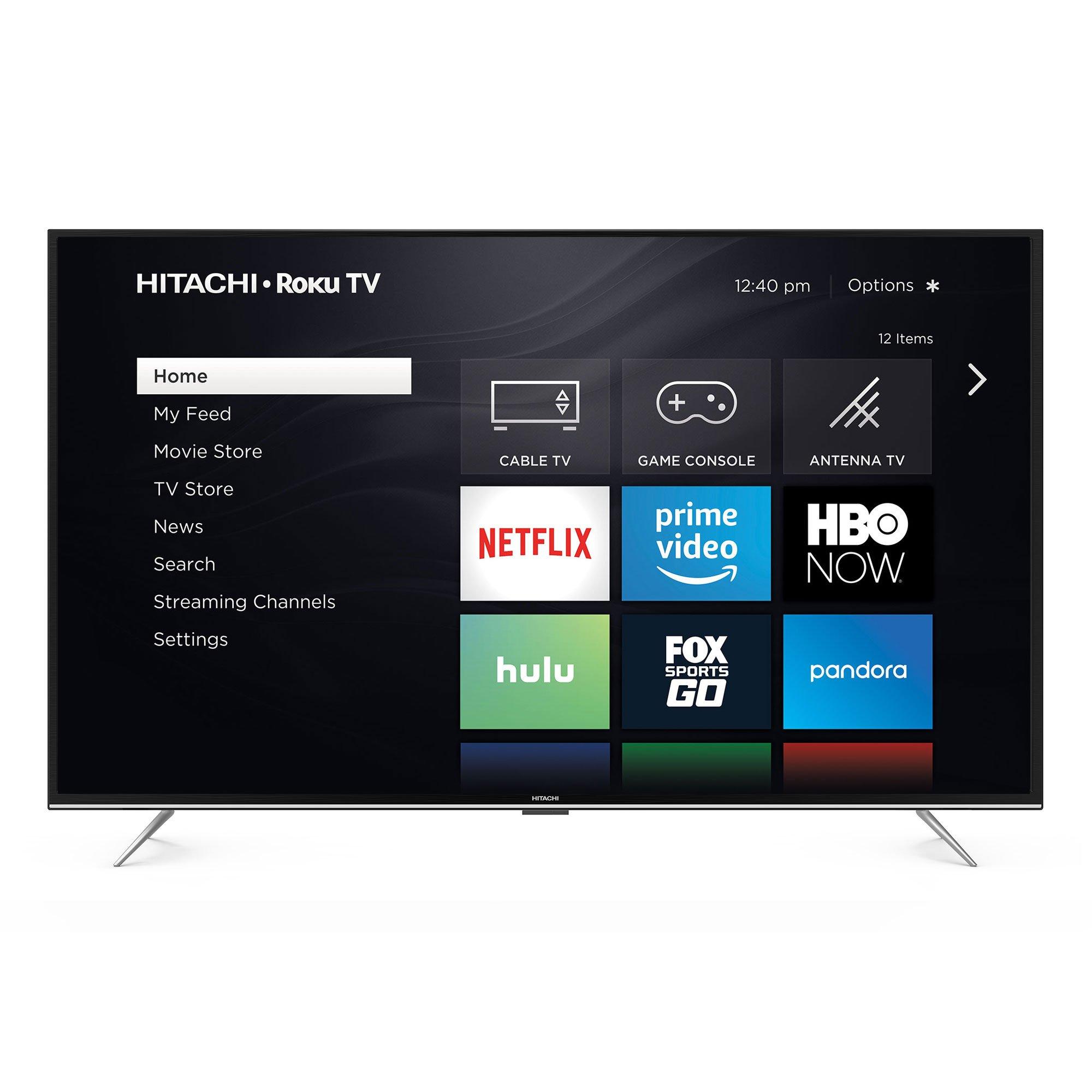 Hitachi Roku Smart LED TV, Black
