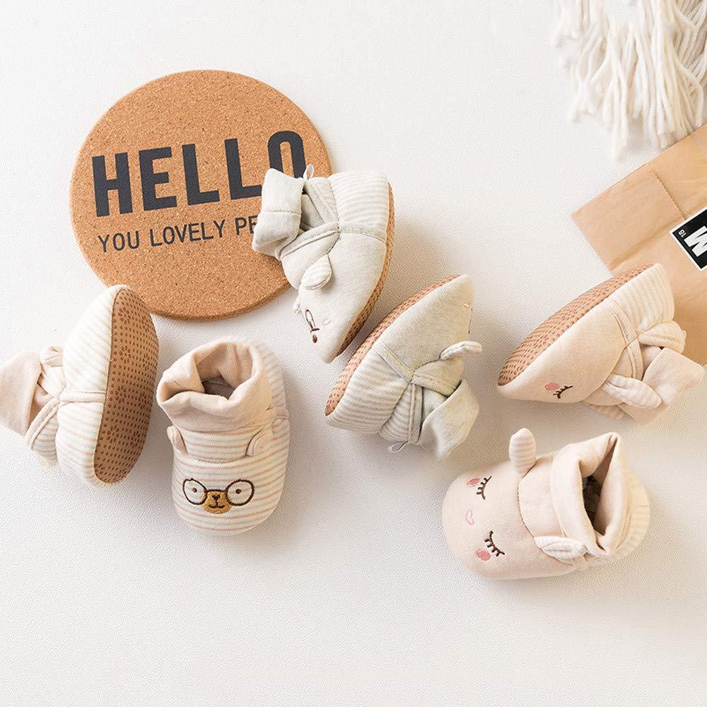 Lurryly❤Baby Girls Boys Soft Sole Cute Warm Anti-Slip Cartoon Animal Shoes Infant//Toddler