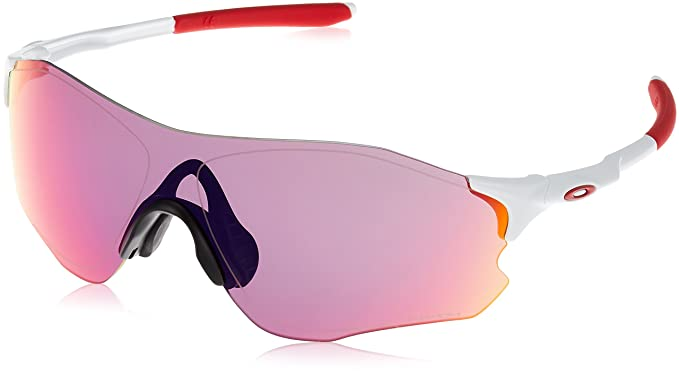 cec9f5e9c6d15 Amazon.com  Oakley Zero Path Sunglasses White Prizm Road  Clothing
