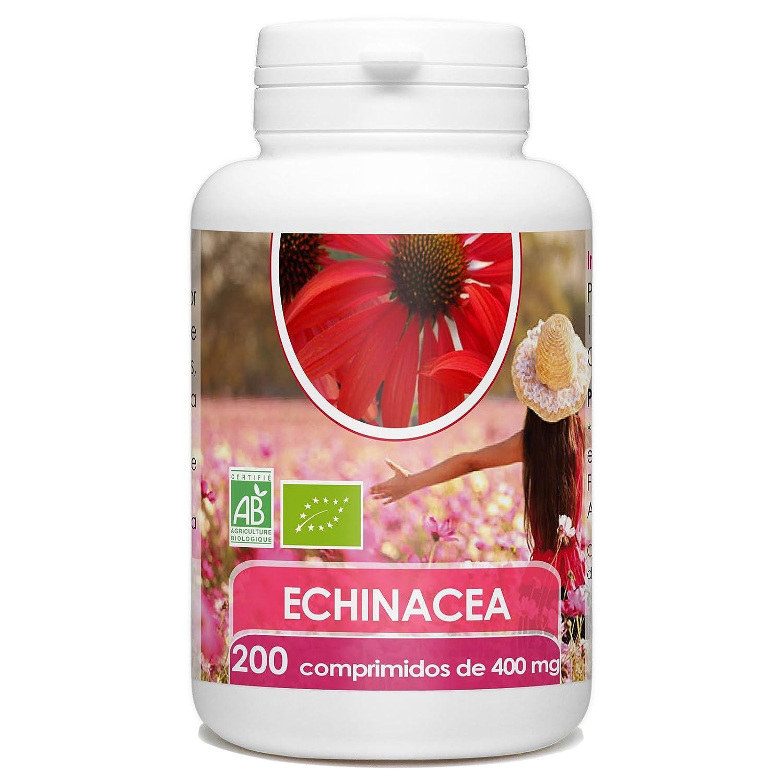 Echinacea Orgánica - Echinacea purpurea - 400mg -200 comprimidos: Amazon.es: Salud y cuidado personal