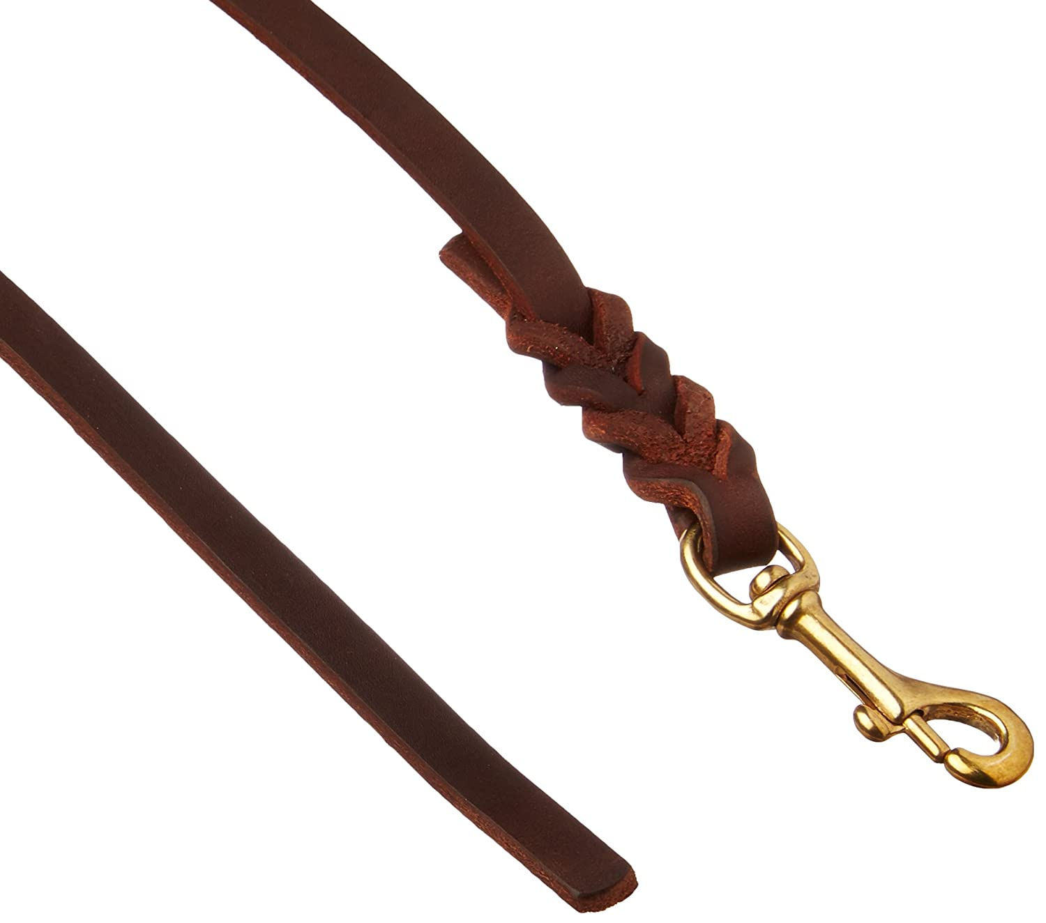 Dean & Tyler Braided Track Dog Leash with Hardware, 35-Feet by 1 2-Inch Wide, Brown