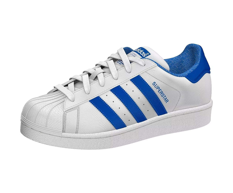 Adidas Superstar J, Chaussures de Fitness Mixte Adulte, Blanc (Ftwbla bleu Reauni 000), 38 2 3 EU  -