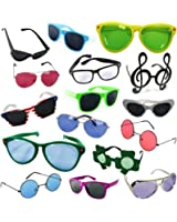 Costume Sunglasses - Party Sunglasses - 6 Pack Funny Shades by Funny Party Hats