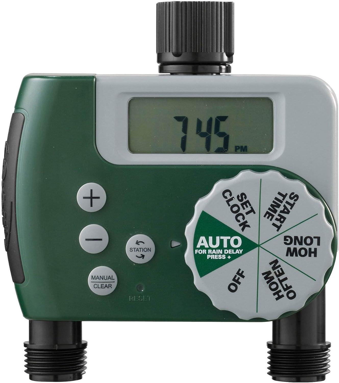 Orbit Digital Automatic 2 Outlet Garden Hose Faucet Sprinkler Controller Timer