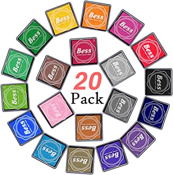 Wood Fabric Scrapbooking 15 Pack Stamp pad Washable Ink Pads for Kids Fingerprint Ink Pads for Rubber Stamps Paper