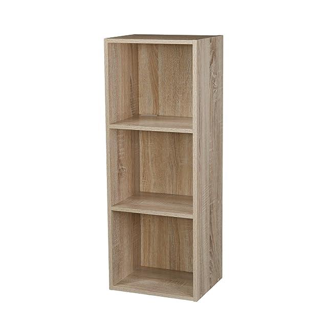 1, 2, 3, 4 Etagen Holz Bücherregal Regalsystem Display