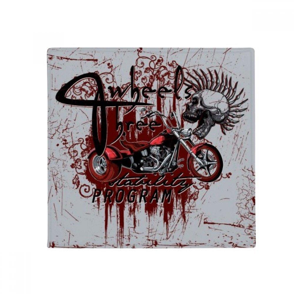 DIYthinker Graffiti Street Culture Bloody Skeleton Motor Anti-Slip Floor Pet Mat Square Home Kitchen Door 80Cm Gift