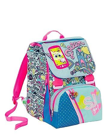 417266a8ee Zaino scuola sdoppiabile SJ GANG - GIRL - Azzurro Rosa - FLIP SYSTEM - 28  LT elementari e medie 3 pattine sfogliabili: Amazon.it: Sport e tempo libero
