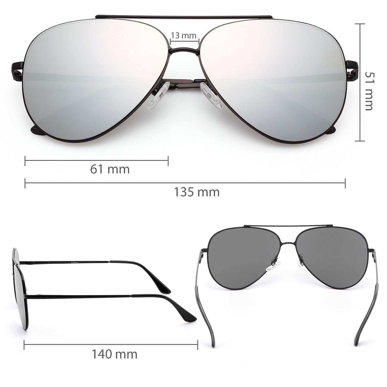 732a3c6e0919c Mirrored Aviator Sunglasses for Men by LotFancy