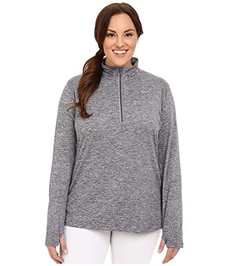55ba71ed69 NIKE Womens Plus Dry Running Fitness 1 4 Zip Pullover at Amazon Women s  Clothing store