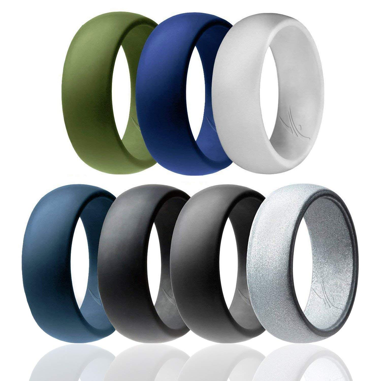 殿堂 シリコンウェディングリングメンズby Light Roq手頃なシリコンゴムバンド 7.5、7パック、4パック& Singles Silver, – 迷彩、メタルLookシルバー、ブラック、グレー、ライトグレー B07571BLQ7 Black, Grey, Silver, Light Grey, Dark Teal, Dark Blue, Dark Olive Green 7.5 - 8 (18.1mm) 7.5 - 8 (18.1mm)|Black, Grey, Silver, Light Grey, Dark Teal, Dark Blue, Dark Olive Green, ワンダーレックス:51842f65 --- beyonddefeat.com