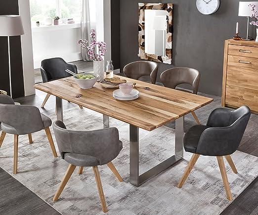 DeLife - Mesa de Comedor Jovana Roble Natural 200 x 100 cm ...