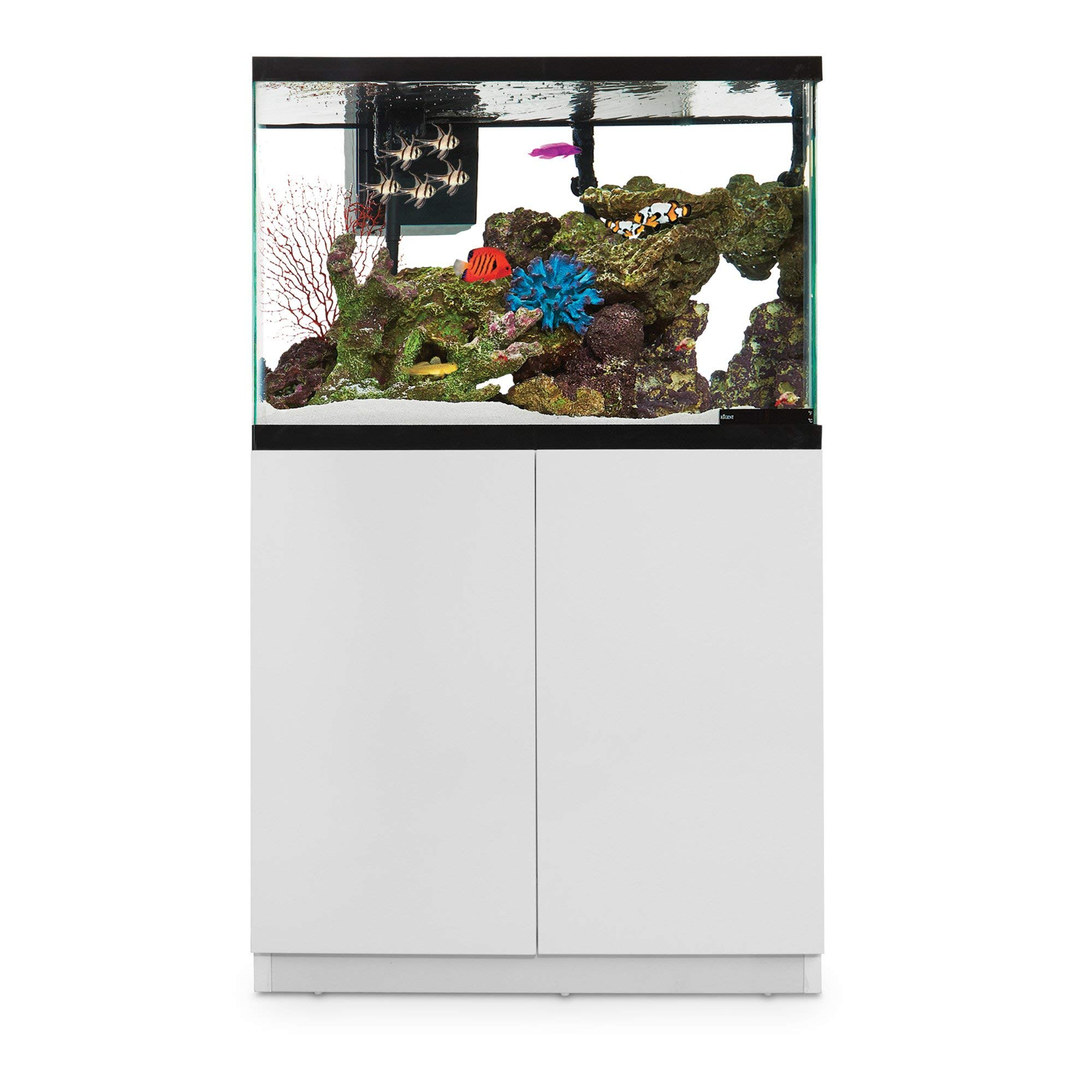Imagitarium White Gloss Fish Tank Stand, Up to 40 Gal, 18.25 in by Imagitarium