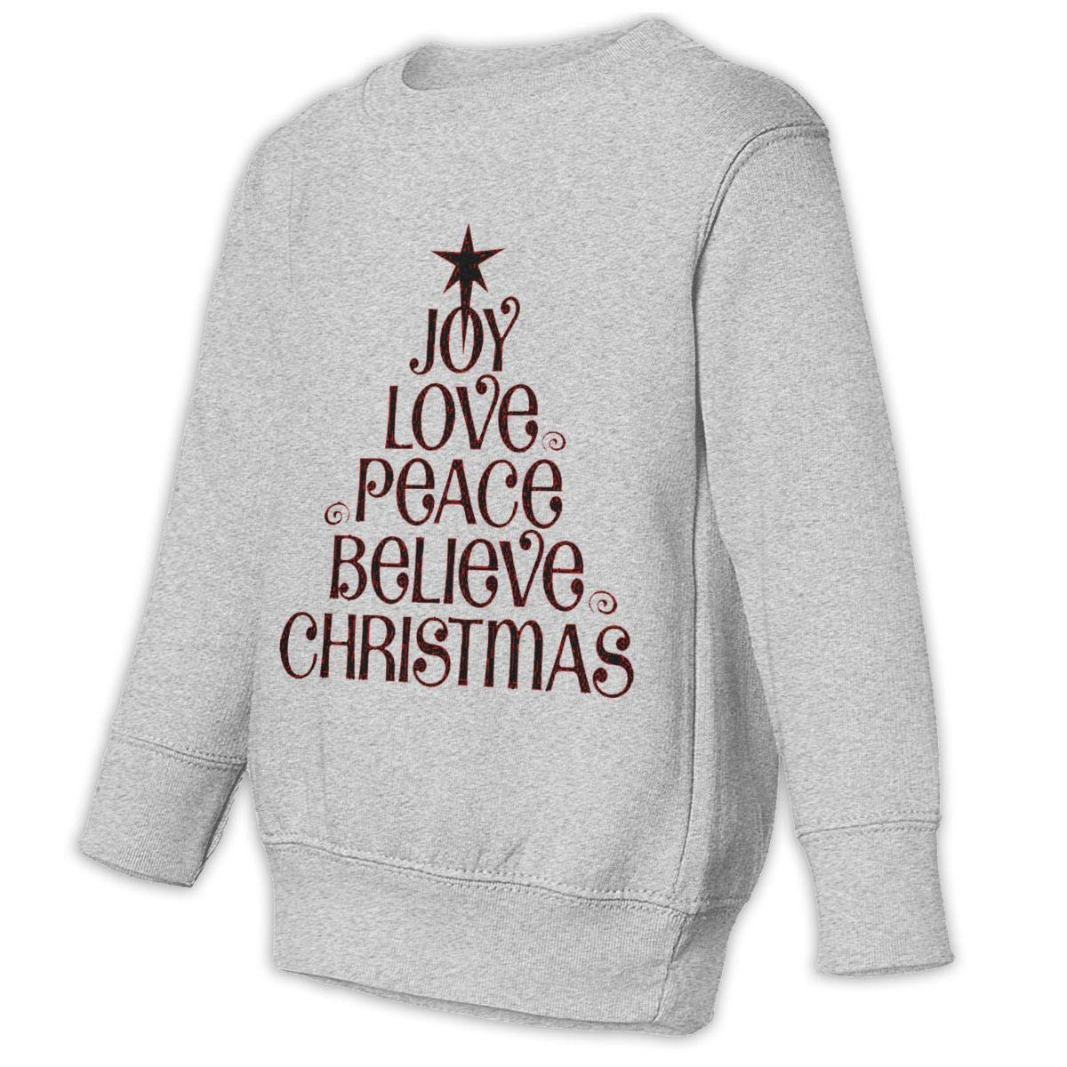 NMDJC CCQ Christmas Pray Words Baby Sweatshirt Cute Toddler Hoodies Comfortable Sweaters