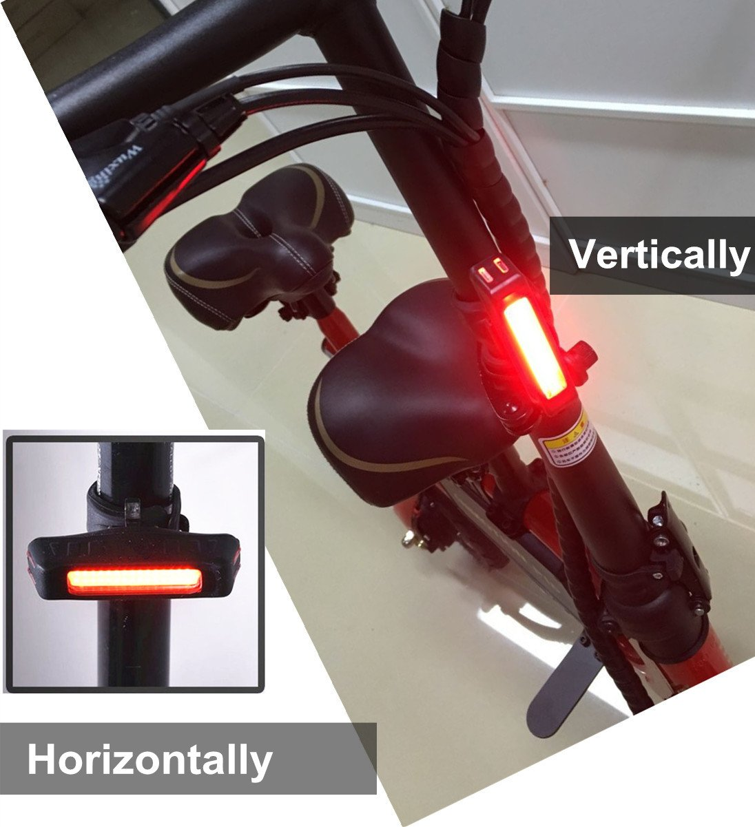LED Bicycle Rear Light Powerful USB Chargeable 5 Light Mode Headlights with Red /& White for Cycling Safety Flashlight Light Helmets Safety Flashlight Bike Lights Front and Rear Maxfind Ultra Bright Bike Tail Light