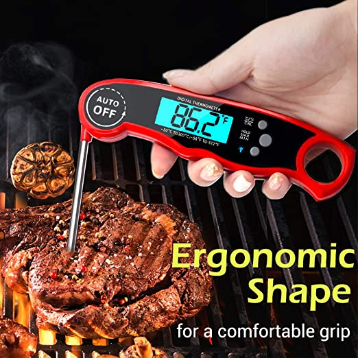 Amazon.com: Termómetro de carne Cokea de lectura instantánea ...