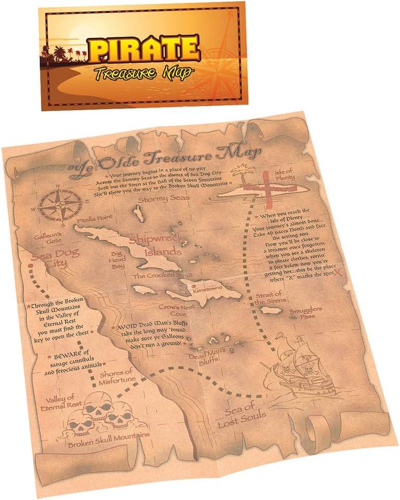 Bristol Novelty - Mapa del tesoro pirata: Amazon.es: Juguetes y juegos