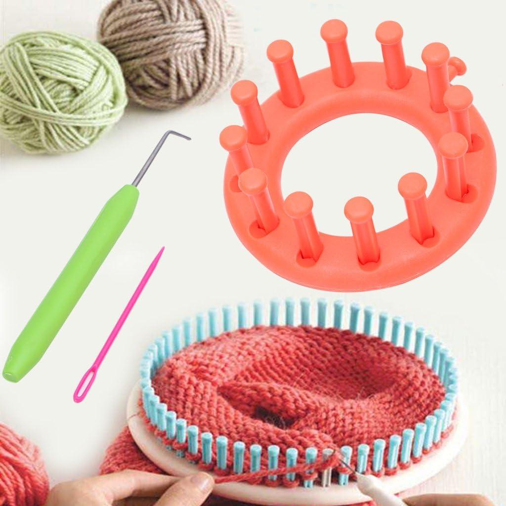 Leililia Loom Set Knitter Knitting Flower Loom Kit Make Hats Scarves
