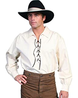 e181c63fa1 Scully Rangewear Men s Rangewear Leather Lace Up Front Shirt