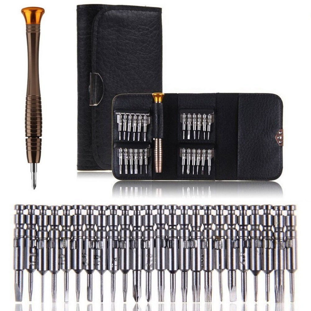 Screwdriver Set 25 in 1, Audel Precision Screwdriver Tool Set with Leather Case for Mobile Phone,PC Laptop,Watch, Computers,Electronic Workshops ,Glasses Repair Vakki