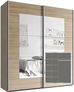 Schwebetürenschrank spiegel eiche  Schwebetürenschrank, Schiebetürenschrank, ca. 150 cm, Eiche Sonoma ...