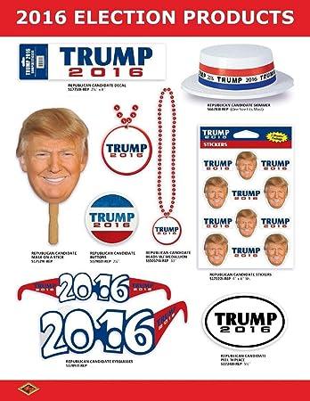 62021fe3013 Amazon.com   Donald Trump 2016 Republican Election Party Pack   Beauty
