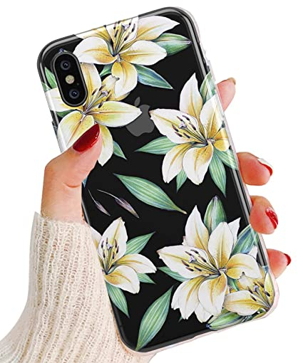 Amazon.com: TRFAEE - Carcasa para iPhone XR, diseño de flor ...