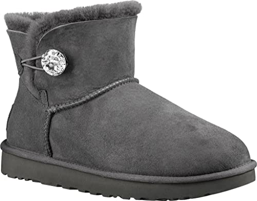 4959255b1a6fce UGG Australia Damen Stiefeletten Mini Bailey But.Bli. 1016554 Grey grau  196377