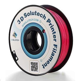 Amazon.com: solutech Hot Pink 1,75 mm PLA 3d impresora 3d ...