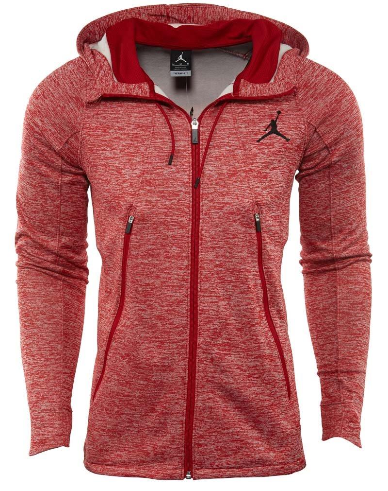 Nike Mens Jordan Flight Fleece Full Zip Hoodie Grey//Black 688525-687 Size 2XL