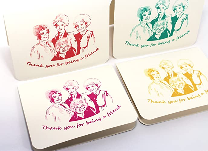 Amazon Com Golden Girls Cards Thank You For Being A Friend
