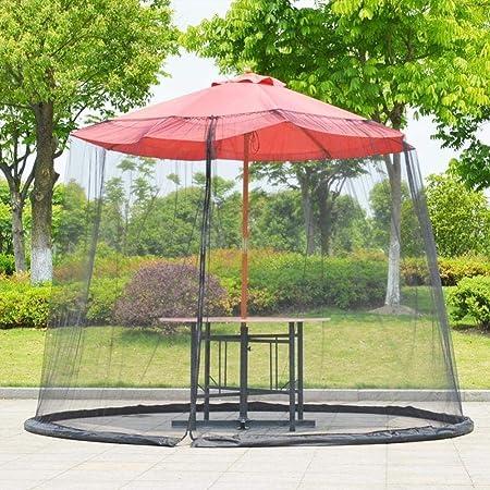 Sombrilla Cubierta de la Red Sol sombrilla Paraguas Sun de la sombrilla Paraguas al Aire Libre Anti-Mosquitos Recta Paraguas (Color : Black): Amazon.es: Hogar
