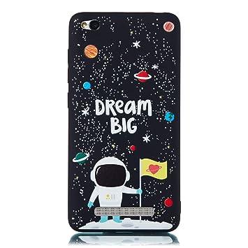 MOSORIS Funda Xiaomi Redmi 4A, Carcasa Dibujo Suave Negro ...
