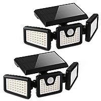 Deals on 2-Pack Otdair 3-Head Solar Security Flood Lights