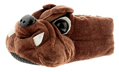 039e02cdabee Wynsors New Mens Gents Brown Bulldogs Novelty Slippers - Brown - UK Size 10