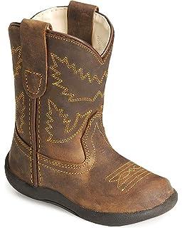 37d709b0d4b Amazon.com | Double Barrel Toddler-Boys' Trace Zipper Cowboy Boot ...