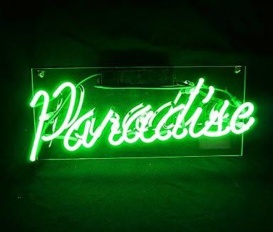 New Neon Sign Decor Paradise 14 Quot X 6 Quot Cool Led Lamp Light