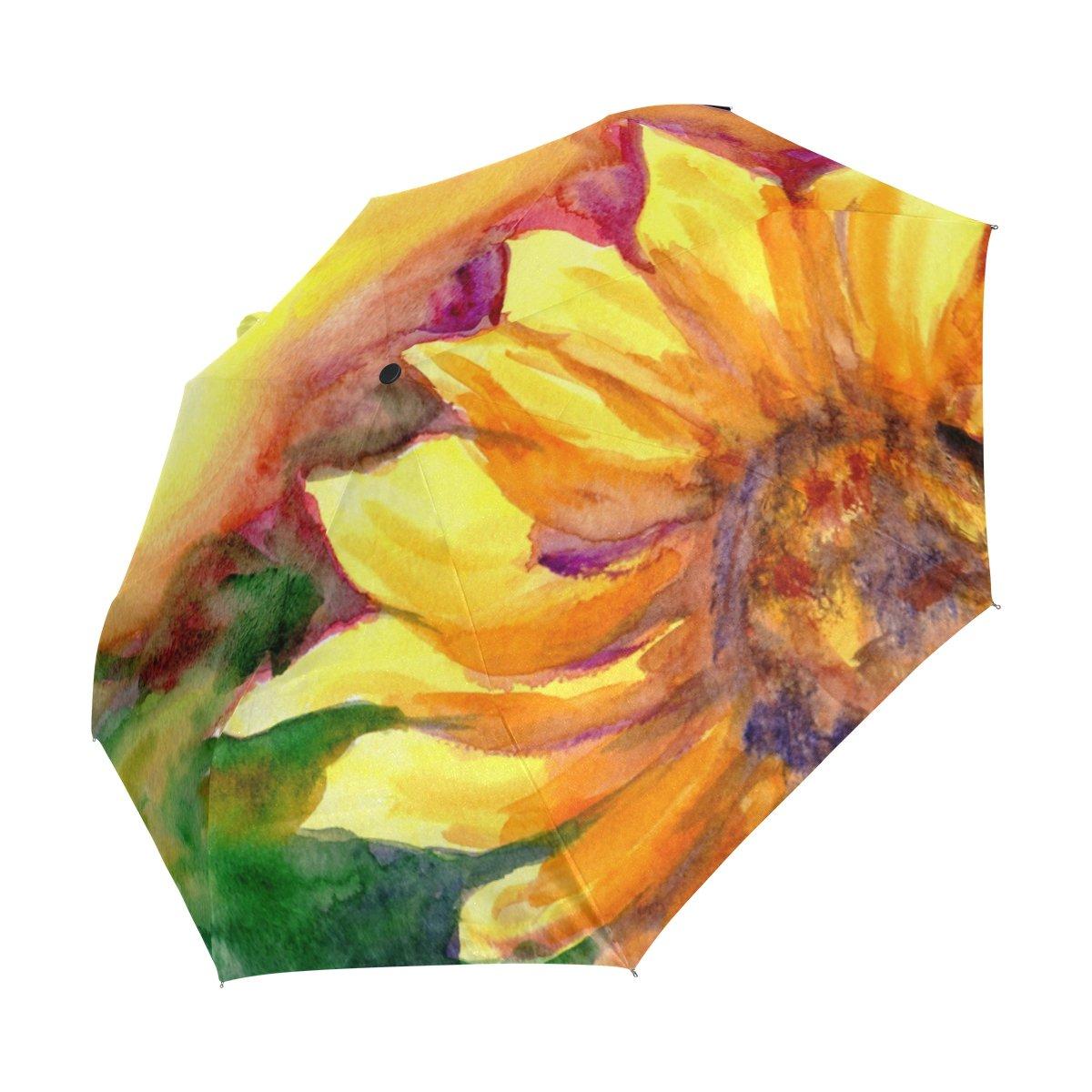 0c577d6e5f9e Amazon.com : JSTEL Watercolor Painting Sunflower Windproof UV ...