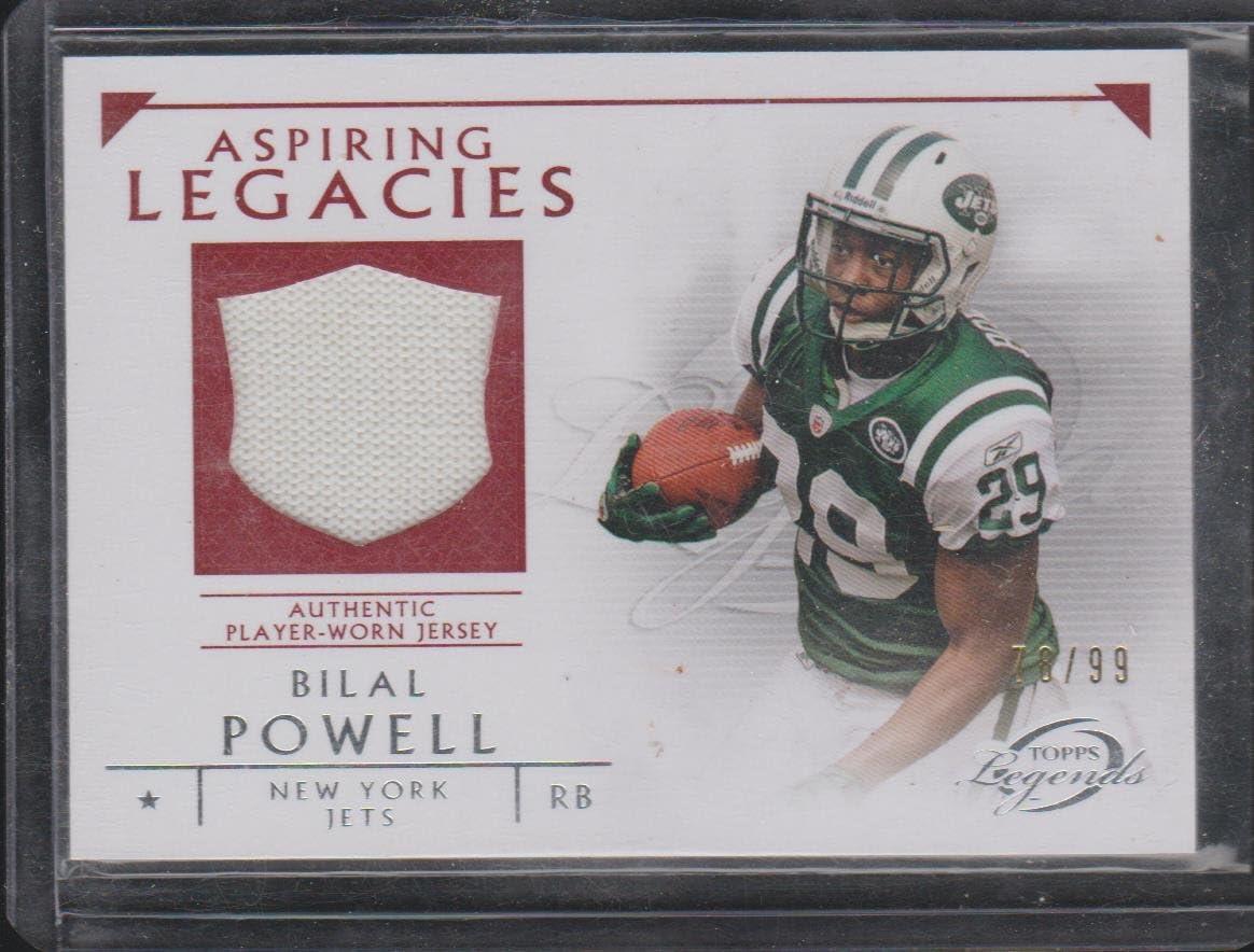 2011 Topps Legends Bilal Powell Jets 78/99 Aspiring Legacies ...