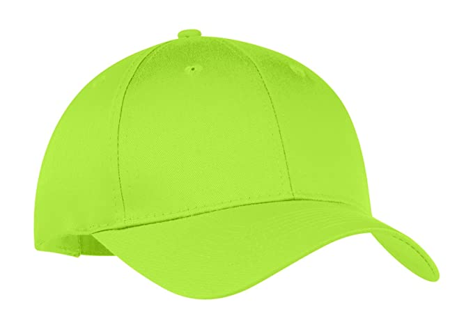 bf373f69af2 Image Unavailable. Image not available for. Color  Port   Company  Unisex-adult Six-Panel Twill Cap CP80 -Lime OSFA