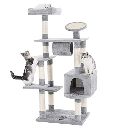 FEANDREA-Sturdy-Cat-Tree-with-Scratching-Board
