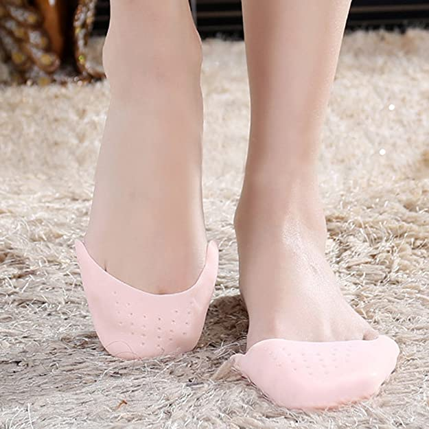 Baoblaze 2 Paires Rose Clair Silicone Gel Pointe Pointe Ballet Danse Toe Caps Pads Toe Protector