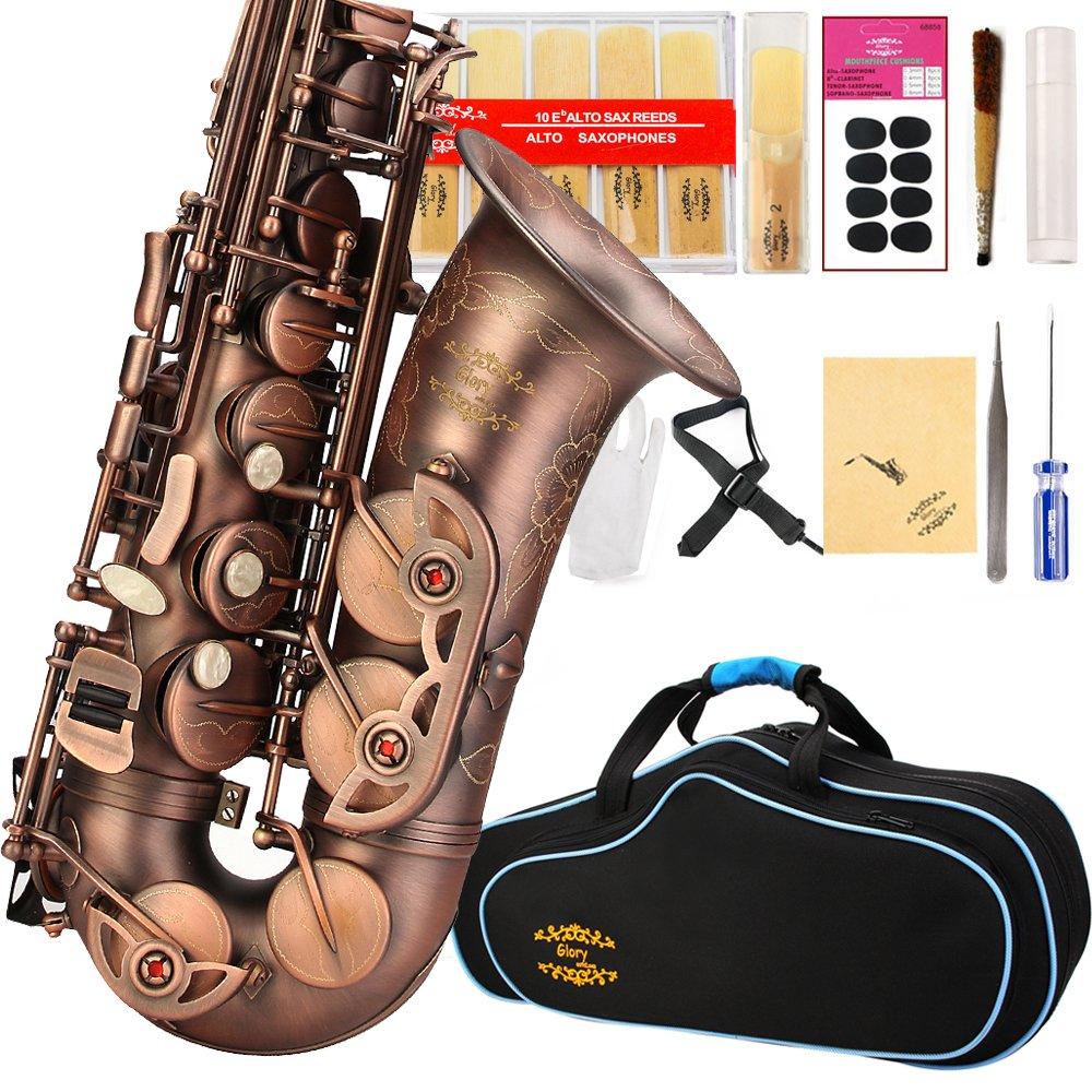 Saxofon Alto Color Bronce Glory Con Funda Y Accesorios (xmp)