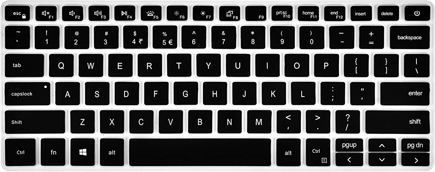 Keyboard Cover Compatible with Dell Inspiron 13 5390 5391 7390 7391, Inspiron 14 5000 5400 5490 5493 5498 7405 7490, Vostro 13 5390 5391 5490 Laptop - Black