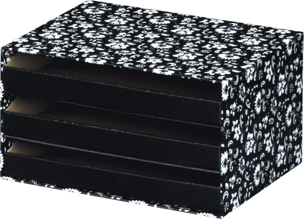 Cajoner a 32 x 24,5 x 18 cm color blanco y negro Nips Eco Line Silva