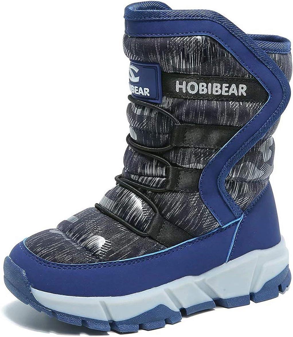 Kinder Mädchen Jungen Fleece Winter Outdoor Schuhe Wasserdicht Schnee Stiefel