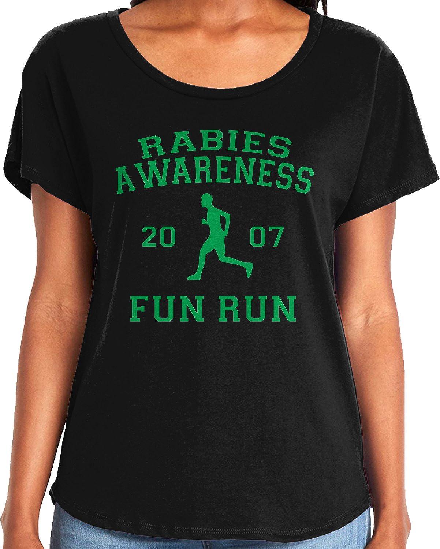 Amdesco Ladies The Office Rabies Awareness Fun Run 2007 Dolman T-Shirt