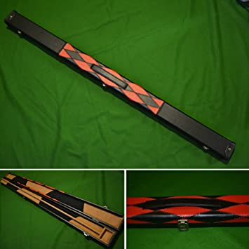 Handmade 3//4 Deluxe Patchwork Style Snooker Cue Case Diamond Style