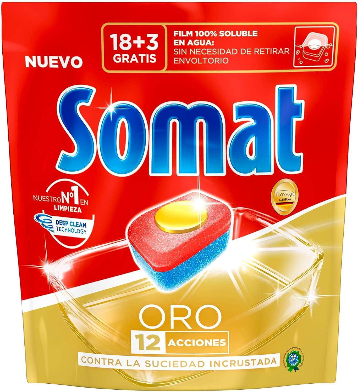 Somat Oro Detergente en Pastillas para Lavavajillas Máquina - 21 ...